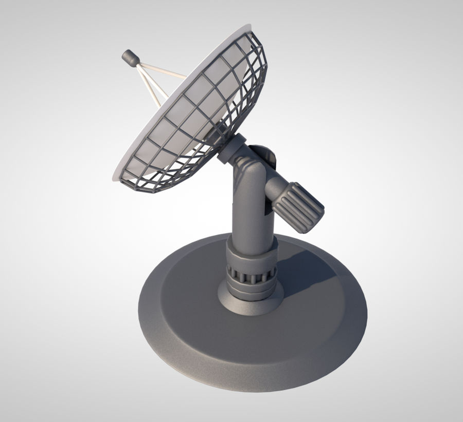 satellietschotel royalty-free 3d model - Preview no. 3