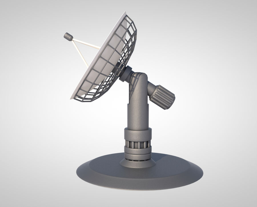 satellietschotel royalty-free 3d model - Preview no. 1