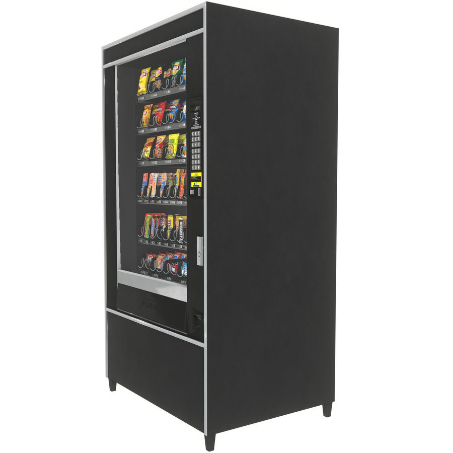 Varuautomat med mellanmål / godis royalty-free 3d model - Preview no. 3