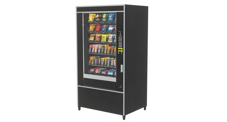 Varuautomat med mellanmål / godis royalty-free 3d model - Preview no. 2
