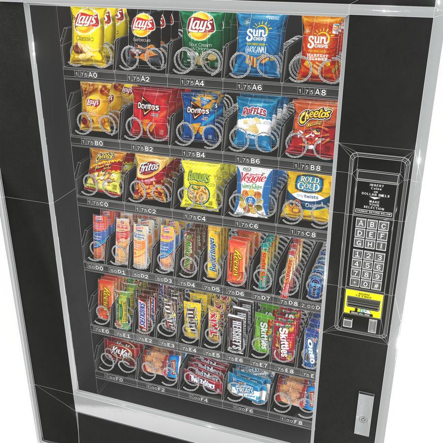Varuautomat med mellanmål / godis royalty-free 3d model - Preview no. 9