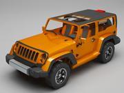 Jeep rubicon modelo 3d