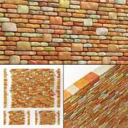 Baksteen graniet kleur steen veel deel 3d model