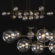 Araña de luces Gallotti & Radice Bolle horizontal grande modelo 3d