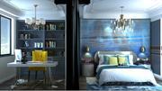 Schlafzimmer und Home Office 3d model
