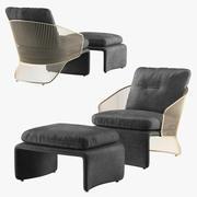Minotti Colette扶手椅 3d model