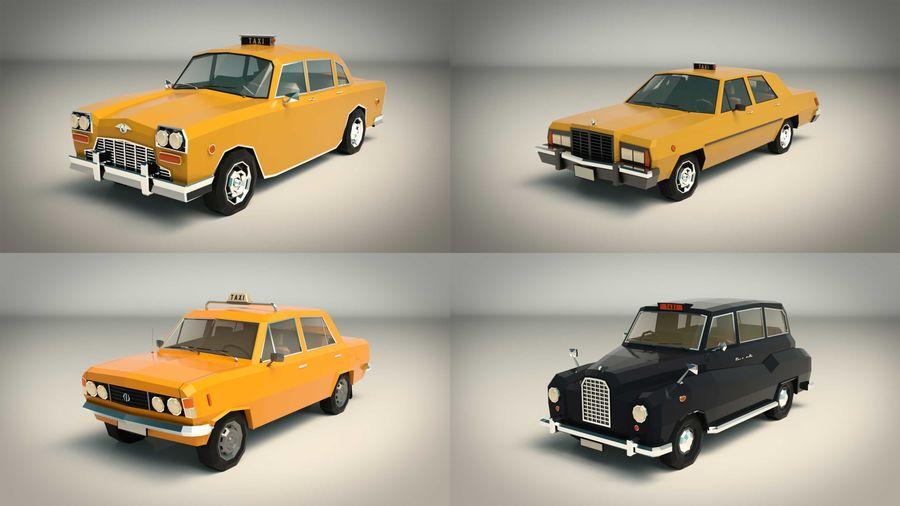 低ポリタクシーパック royalty-free 3d model - Preview no. 3