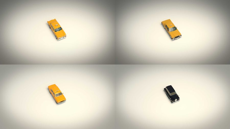 低ポリタクシーパック royalty-free 3d model - Preview no. 6