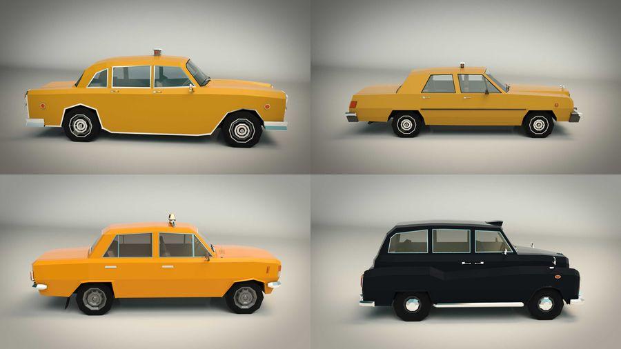 低ポリタクシーパック royalty-free 3d model - Preview no. 8