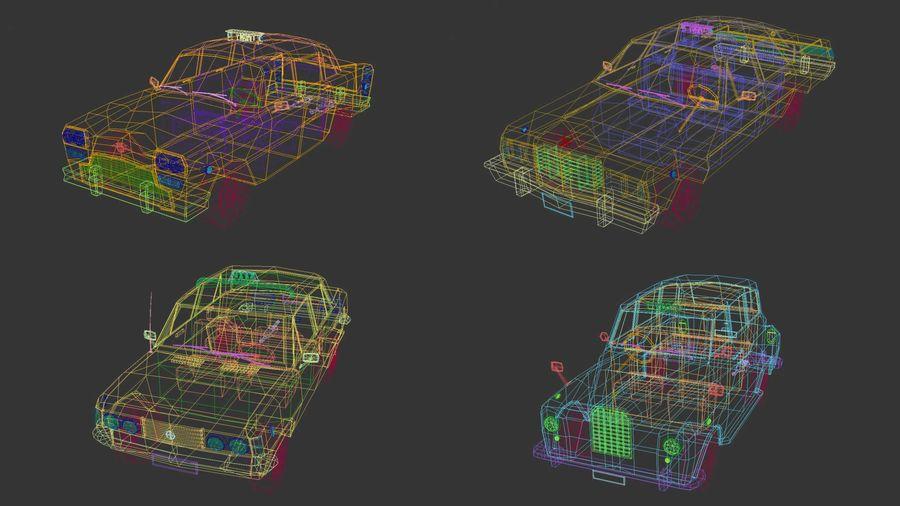 低ポリタクシーパック royalty-free 3d model - Preview no. 14