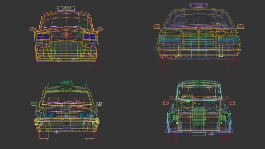 低ポリタクシーパック royalty-free 3d model - Preview no. 15