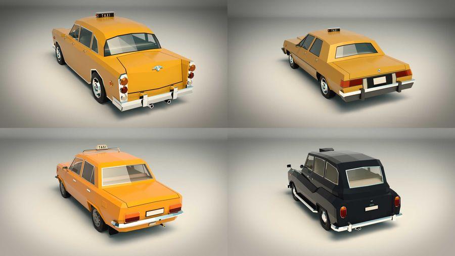 低ポリタクシーパック royalty-free 3d model - Preview no. 4