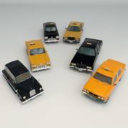 Низкий Поли Такси Пакет 3d model