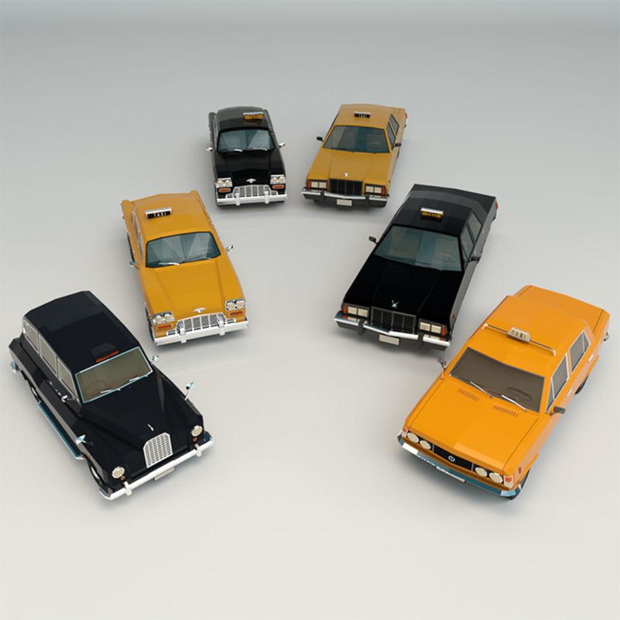 低ポリタクシーパック royalty-free 3d model - Preview no. 1