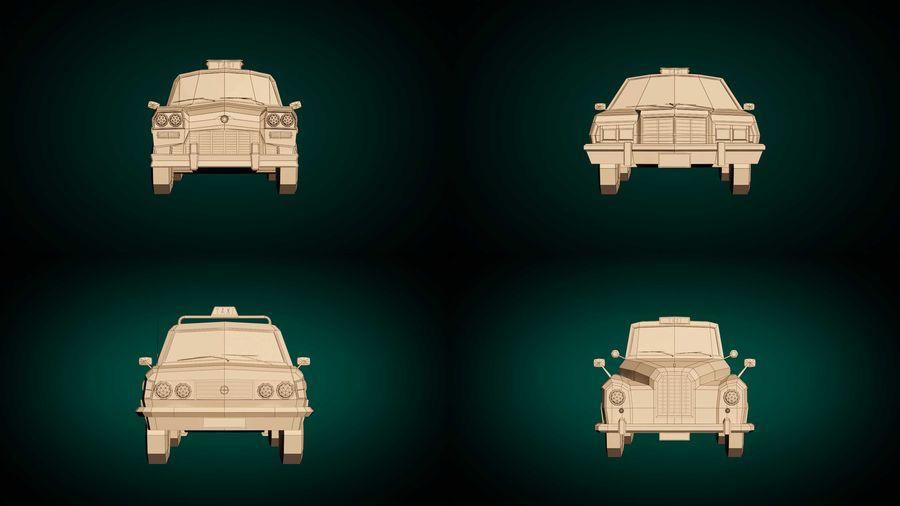 低ポリタクシーパック royalty-free 3d model - Preview no. 10