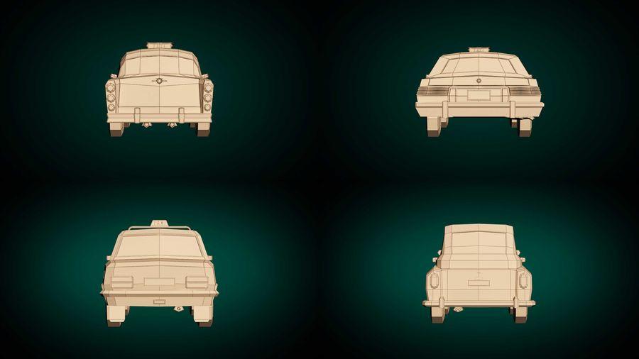 低ポリタクシーパック royalty-free 3d model - Preview no. 12