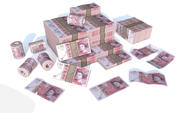 Pond geld 3D-model 3d model