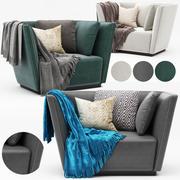 현대 안락 의자 3d model