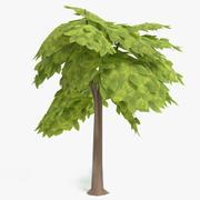Gestileerde boom laag poly 3d model