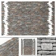 Il rock brick fa parte di molte parti 3d model
