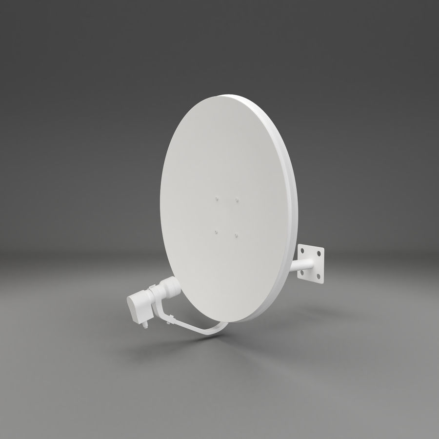 Schotelantenne royalty-free 3d model - Preview no. 8