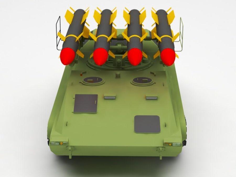 军事火箭发射器 royalty-free 3d model - Preview no. 9