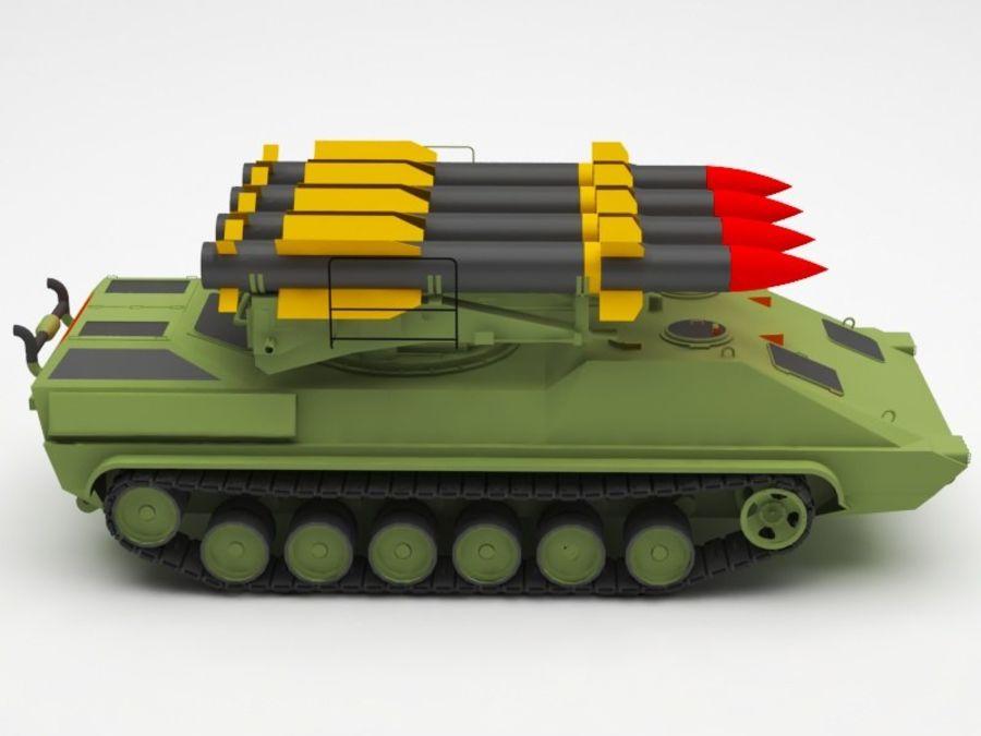 军事火箭发射器 royalty-free 3d model - Preview no. 7