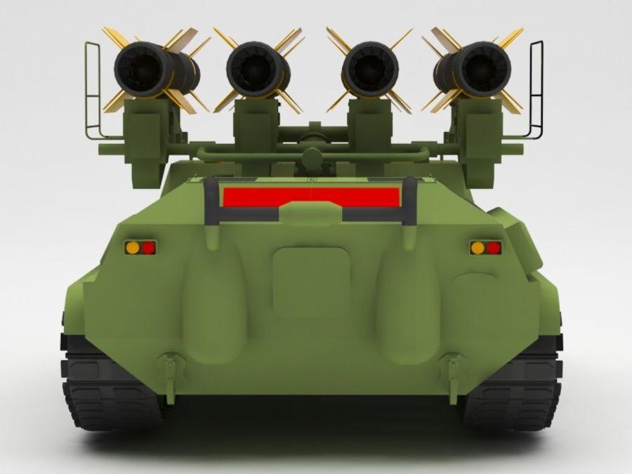 军事火箭发射器 royalty-free 3d model - Preview no. 5