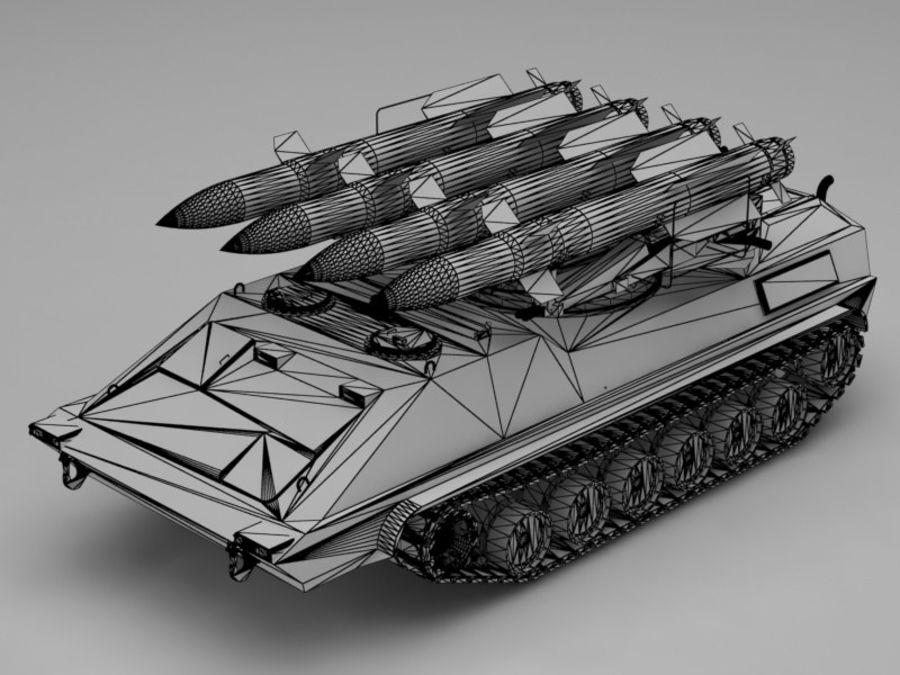 军事火箭发射器 royalty-free 3d model - Preview no. 11