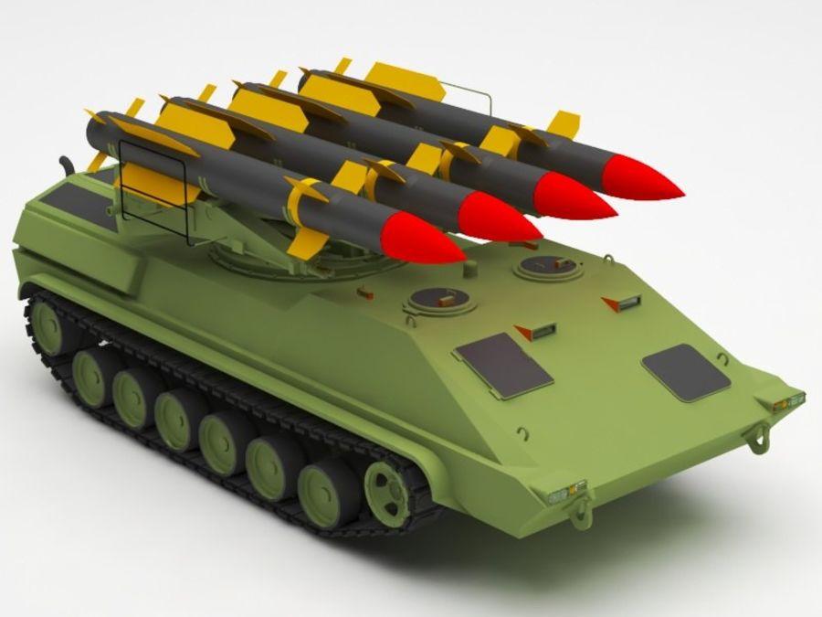 军事火箭发射器 royalty-free 3d model - Preview no. 8