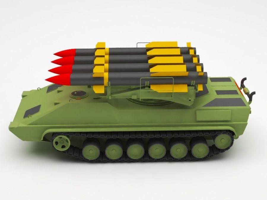 军事火箭发射器 royalty-free 3d model - Preview no. 2