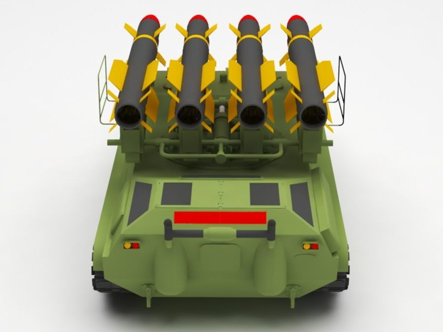 军事火箭发射器 royalty-free 3d model - Preview no. 4