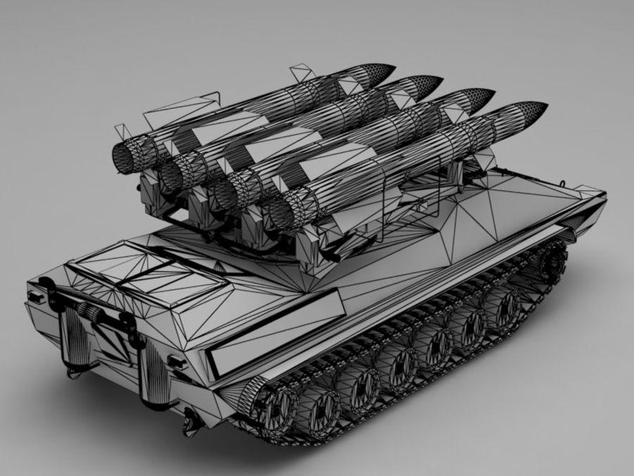 军事火箭发射器 royalty-free 3d model - Preview no. 12