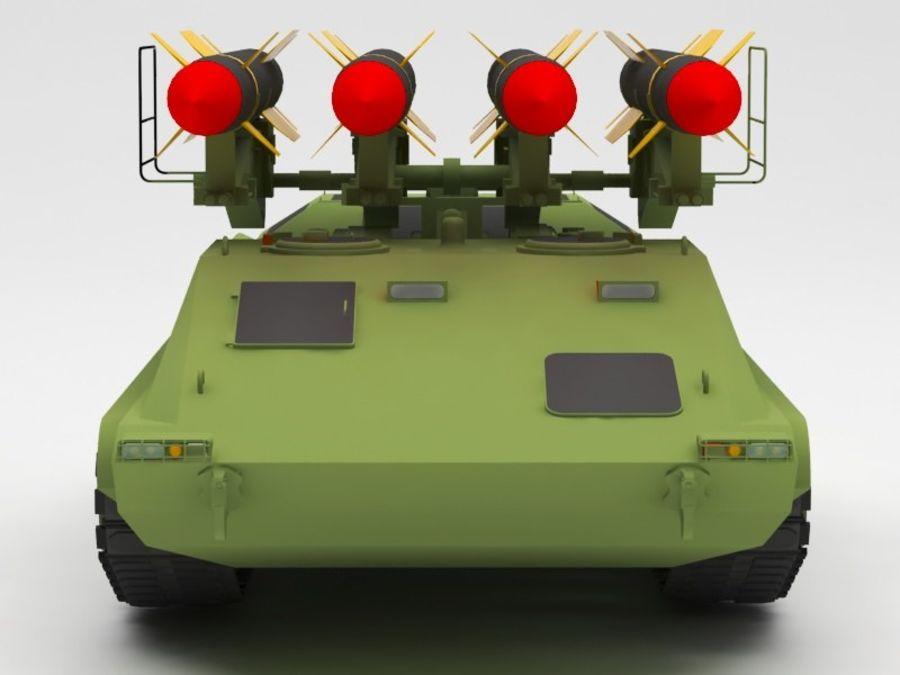 军事火箭发射器 royalty-free 3d model - Preview no. 10
