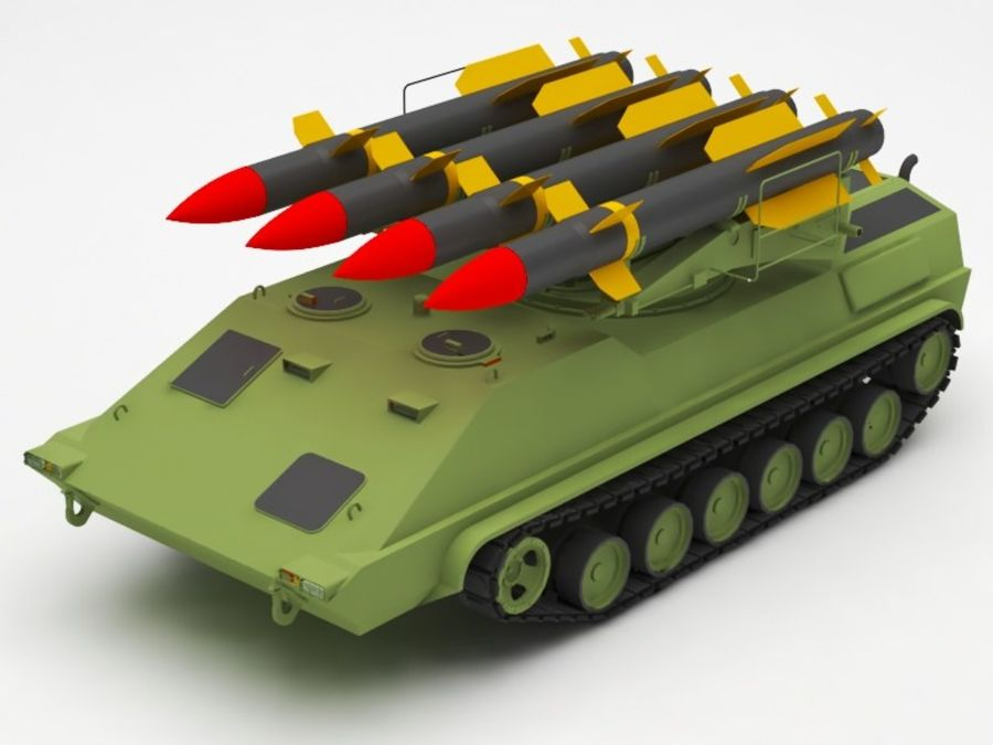 军事火箭发射器 royalty-free 3d model - Preview no. 1