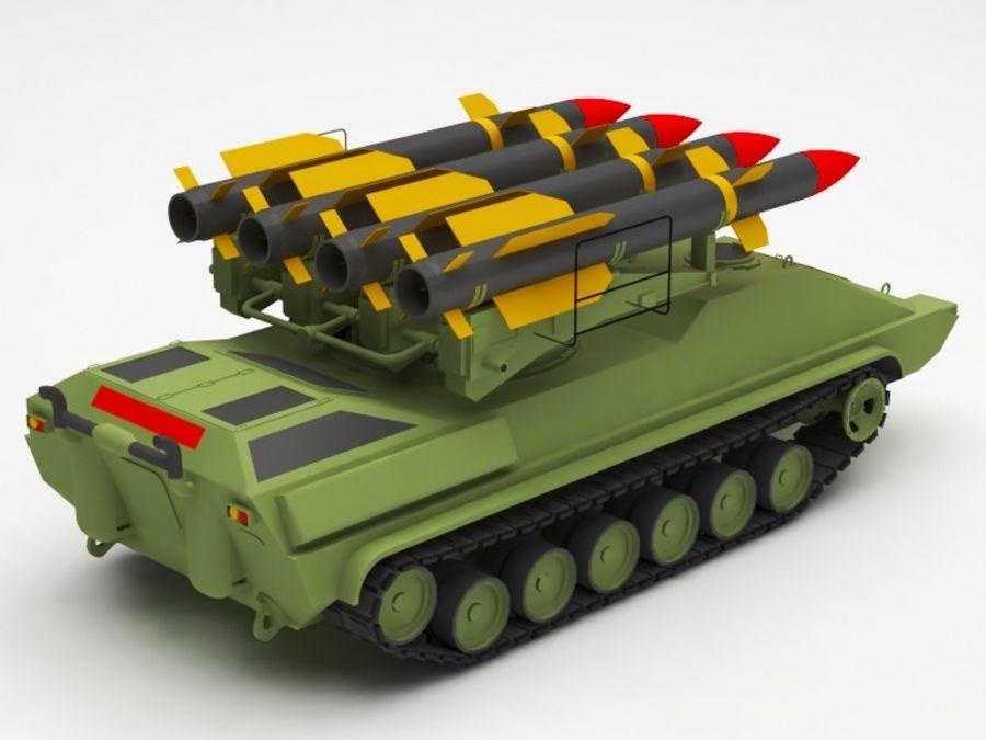 军事火箭发射器 royalty-free 3d model - Preview no. 6