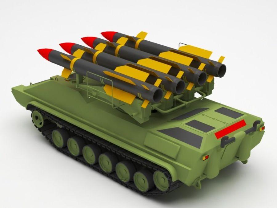 军事火箭发射器 royalty-free 3d model - Preview no. 3