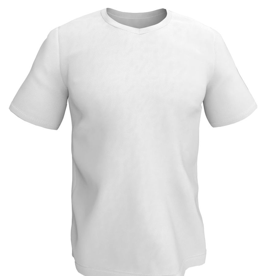 T恤 royalty-free 3d model - Preview no. 2