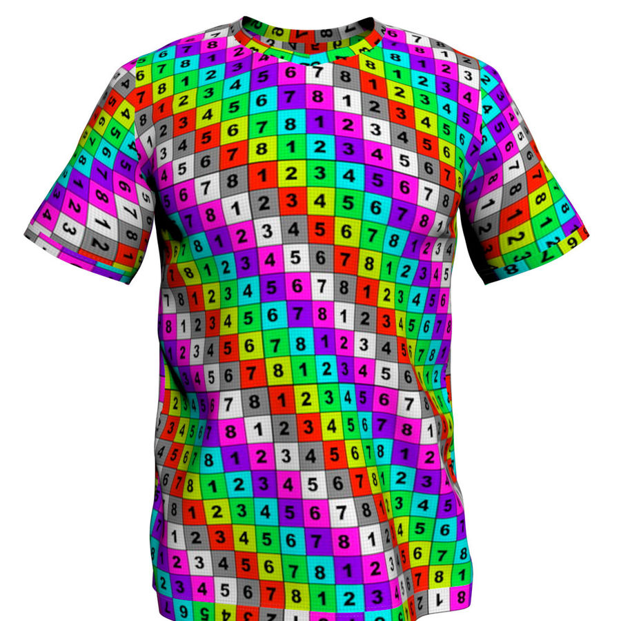 T恤 royalty-free 3d model - Preview no. 10