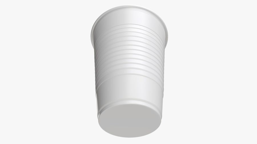 Plastic beverage cup royalty-free 3d model - Preview no. 5