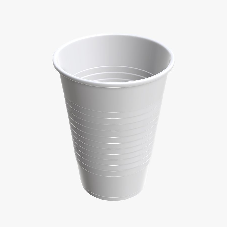 Plastic beverage cup royalty-free 3d model - Preview no. 1