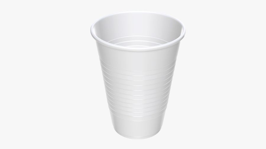 Plastic beverage cup royalty-free 3d model - Preview no. 2