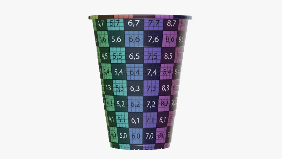 Plastic beverage cup royalty-free 3d model - Preview no. 13