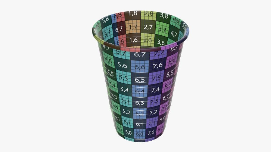 Plastic beverage cup royalty-free 3d model - Preview no. 12