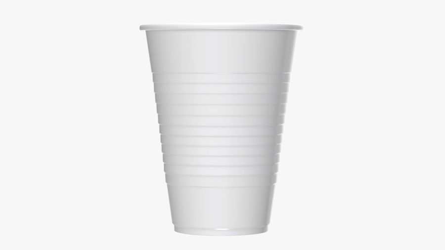 Plastic beverage cup royalty-free 3d model - Preview no. 3