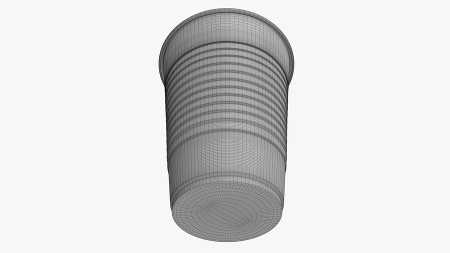 Plastic beverage cup royalty-free 3d model - Preview no. 10