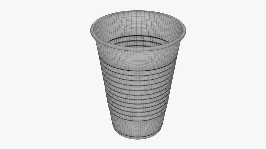 Plastic beverage cup royalty-free 3d model - Preview no. 7