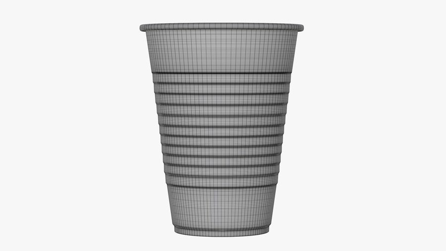 Plastic beverage cup royalty-free 3d model - Preview no. 8