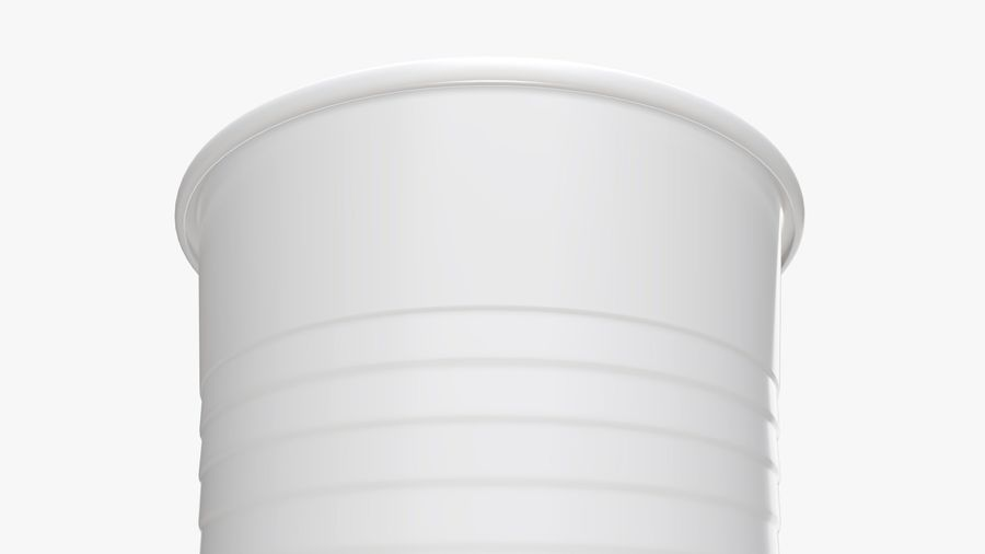 Plastic beverage cup royalty-free 3d model - Preview no. 6