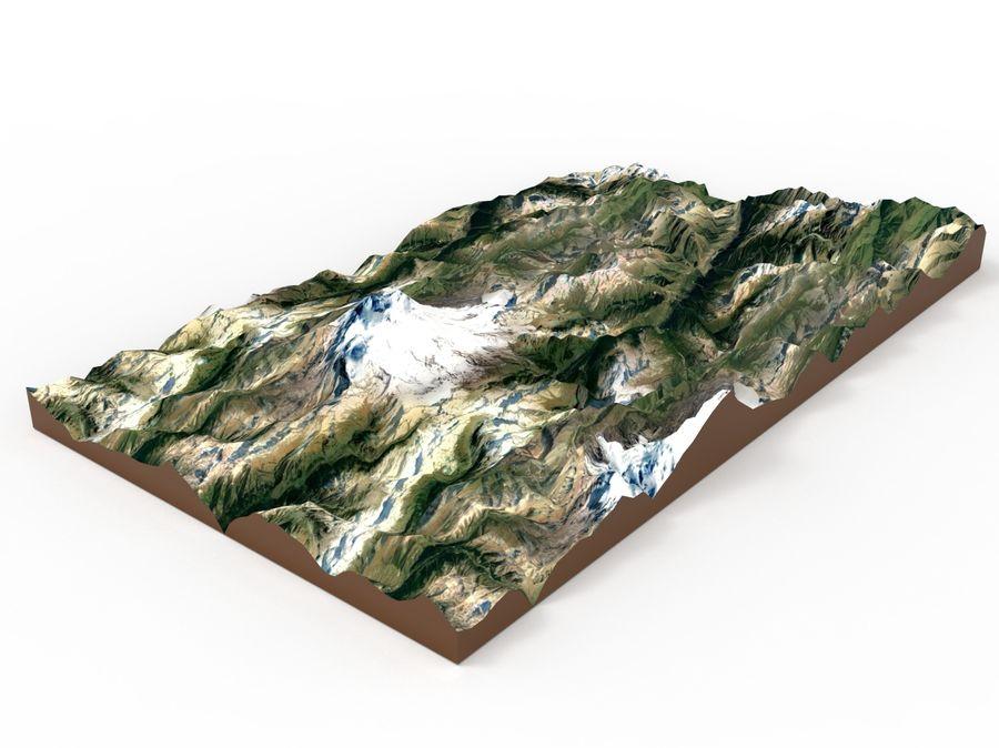 Mountain landscape royalty-free 3d model - Preview no. 6